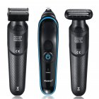 Триммер стайлер для стрижки волос и бороды профессиональный аккумуляторный беспроводной Kemei KM-690 5в1 - изображение 2