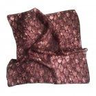 Шелковый шейный платок Silk Route 50х50 см Цвет бегонии a-456 - изображение 2