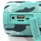 Бездротова Bluetooth колонка Zealot S32 Бірюзовий камуфляж - зображення 5