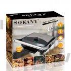 Гриль електричний для будинку контактний притискної для стейків з терморегулятором Sokany 2000W (KJ-210) - зображення 9