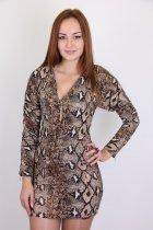 Платье женское YONG CHUN 3652-1 (Кофе с молоком XL) - изображение 1