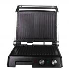 Електричний гриль прес DSP KB-1036, 2000Вт, Відкривається на 180 градусів, 2 регулювання температури пластин, гриль прижимний, Сріблястий - зображення 2