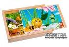 Пчелка Майя 4 пазла в деревянной коробке Bino (13630) - изображение 1