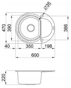 Кухонная мойка ELLECI Easy Round nero 40 - изображение 3