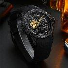 Мужские механические часы Megalith Black наручные классические на силиконовом ремешке + коробка (1088-0032) - изображение 2
