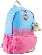 Рюкзак подростковый YES OX 311 29x45x13 см 17 л для девочки Голубой с розовым (554076) - изображение 1