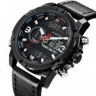 Чоловічі спортивні кварцові годинники Naviforce Kosmos Black NF9097 - зображення 1