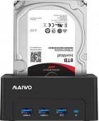 """Док-станція Maiwo для HDD 2.5""""/3.5"""" SATA/SSD + 3xUSB 3.0 (K308H) - зображення 7"""