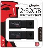 Kingston DataTraveler 100 G3 2x32GB USB 3.0 (DT100G3/32GB-2P) - зображення 1