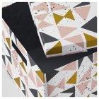 Коробка з кришкою IKEA TJENA 25x35x20 см білий чорний рожевий 403.982.15 - зображення 2