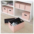 Коробка з кришкою IKEA TJENA 25x35x20 см рожева 404.038.15 - зображення 3