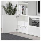 Коробка з кришкою IKEA TJENA 18x25x15 см біла 103.954.21 - зображення 3
