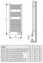 Полотенцесушитель-радиатор электрический ATLANTIC 2012 Narrow White 300W c терморегулятором (850303) - изображение 5