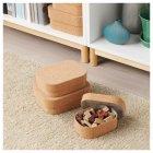 Набор коробок с крышкой IKEA SAMMANHANG 3 шт 004.137.36 - изображение 3