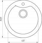 Кухонная мойка GLOBUS LUX Orta 485 миндаль (000021052) - изображение 5