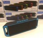 Акустична система UKC портативна колонка Megabass A2DP Stereo Bluetooth USB FM 20см Синьо-чорна (SC-208-4) - зображення 9