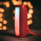Портативная акустическая колонка T&G с LED-подсветкой и шнурком для переноски Bluetooth 10Вт Красная (TG157stereo-02) - изображение 11