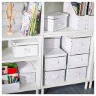 Контейнер для зберігання IKEA FJÄLLA 25x36x20 см білий 603.956.83 - зображення 4