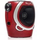 Портативна колонка радіо караоке MP3 USB Golon RX-678 Red - зображення 3
