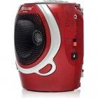 Портативна колонка радіо караоке MP3 USB Golon RX-678 Red - зображення 4