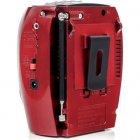 Портативна колонка радіо караоке MP3 USB Golon RX-678 Red - зображення 5
