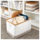 Коробка IKEA RABBLA 35x50x30 см коричнева бежева 403.481.26 - зображення 7
