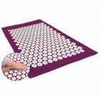 Масажний килимок з подушкою акупунктурний Аплікатор Кузнєцова Yantra Mat Ommassage фіолетовий - зображення 2