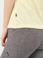 Футболка Puma ESS Logo Heather Tee 58687640 XS Yellow Pear Heather (4063697258884) - зображення 5