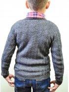 Пуловер Прованс Геометрія 13060 122-128 см Графітовий (4823093414389) - зображення 3