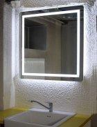 Зеркало Turister прямоугольное 90*50 см с передней LED подсветкой (ZPK9050) - изображение 10