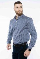 Рубашка в полоску Time of Style 511F054 XS Темно-синий/белый - изображение 4
