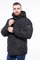Куртка однотонная Time of Style 191P98854 XXL Темно-зеленый - изображение 4
