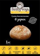 """Смесь """"6 зёрен"""" Sunnygoga 1кг без глютена для выпечки - изображение 1"""