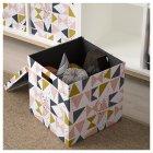 Коробка з кришкою IKEA (ІКЕА) TJENA 30х30х30см біла чорна рожева (203.982.21) - зображення 3
