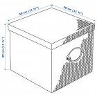 Коробка IKEA (ІКЕА) KVARNVIK 30х30х30см сіра (504.128.81) - зображення 7