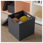 Коробка с крышкой IKEA (ИКЕА) TJENA 30x30x30см черная (503.954.76) - изображение 3