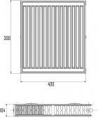 Радиатор стальной Aquatronic 22-К 300 х 400 боковой - изображение 2