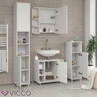 Шкаф для ванной Vicco Fynn, 30x95, белый - изображение 6