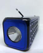 Радиоприемник Bluetooth Golon RX-BT23 с фонариком Синий - изображение 4