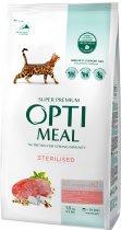 Полнорационный сухой корм для стерилизованных кошек и кастрированных котов Optimeal С высоким содержанием говядины и сорго 1.5 кг (4820215364652) - изображение 1