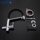 Змішувач для кухні з підключенням фільтра питної води хром Gappo G4398-7 - зображення 4