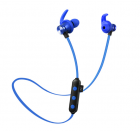 Наушники MP3 беспроводные вакуумные для спорта с микрофоном с поддержкой MicroSD флешки гарнитура Bluetooth HEONYIRRY M22 Синий - изображение 1