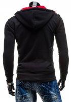 Толстовка LikeS утепленная с капюшоном XL Черная (3013) - изображение 2