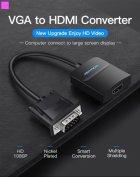 Перехідник Vention VGA-HDMI, 0.2 м зі звуком і живленням (ACNBB) (43387992) - зображення 5