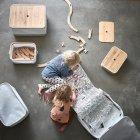 Коробка з кришкою IKEA (ІКЕА) RABBLA 25х35х20см коричнева бежева (603.481.25) - зображення 7