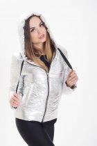 Демисезонная женская куртка KML K 00191 /01 (46) M Серебристо-светлый (K 00191 /01 C) - изображение 2