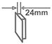 Ультратонкая конструкция - 24 мм