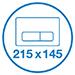 К инсталляции подходят клавиши Valsir размером 215х145 мм
