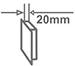 Ультратонкая конструкция - 20 мм